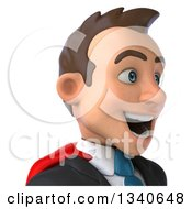 Clipart Of A 3d Avatar Of A Super White Businessman Facing Slightly Right Royalty Free Illustration