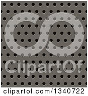 Clipart Of A Seamless Perfroated Metal Grill Texture Background Royalty Free Illustration