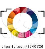 Clipart Of A Camera With A Colorful Shutter Lens Royalty Free Vector Illustration by ColorMagic