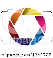 Clipart Of A Camera With A Colorful Shutter Lens 2 Royalty Free Vector Illustration by ColorMagic