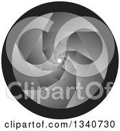 Clipart Of A Grayscale Camera Shutter Lens Royalty Free Vector Illustration by ColorMagic