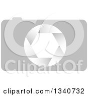 Clipart Of A Grayscale Camera Royalty Free Vector Illustration by ColorMagic
