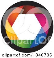 Clipart Of A Colorful Camera Shutter Lens Royalty Free Vector Illustration by ColorMagic