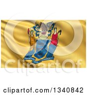 Clipart Of A 3d Rippling State Flag Of New Jersey USA Royalty Free Illustration by stockillustrations