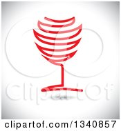 Clipart Of A Red Wine Glass Over Shading Royalty Free Vector Illustration by ColorMagic