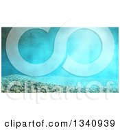 Clipart Of A 3d Underwater Scene With Pebbles Royalty Free Illustration