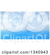Clipart Of A Watercolour Painting Styled Blue Sky With Puffy Clouds Royalty Free Illustration