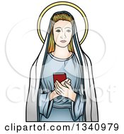 Clipart Of A Virgin Mary Royalty Free Vector Illustration