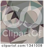 Clipart Of A Low Poly Abstract Geometric Background Of Laurel Green Royalty Free Vector Illustration