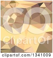 Clipart Of A Low Poly Abstract Geometric Background Of Flavescent Yellow Royalty Free Vector Illustration
