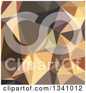 Clipart Of A Low Poly Abstract Geometric Background Of Bole Brown Royalty Free Vector Illustration