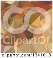 Clipart Of A Low Poly Abstract Geometric Background Of Camel Brown Royalty Free Vector Illustration