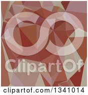 Clipart Of A Low Poly Abstract Geometric Background Of Congo Pink Royalty Free Vector Illustration