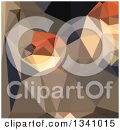Clipart Of A Low Poly Abstract Geometric Background Of Cool Black Brown Blue Royalty Free Vector Illustration