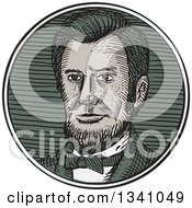Clipart Of A Retro Sketched Or Engraved Victorian Gentleman With A Goatee Royalty Free Vector Illustration
