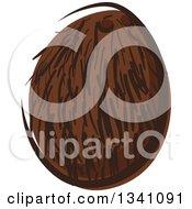 Clipart Of A Cartoon Coconut 2 Royalty Free Vector Illustration