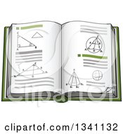 Clipart Of A Cartoon Geometry Math Book Royalty Free Vector Illustration