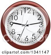 Clipart Of A Cartoon Wall Clock Royalty Free Vector Illustration