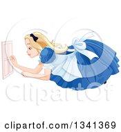 Giant Alice In Wonderland Opening A Tiny Door