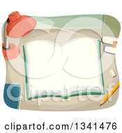 Clipart Of A Desk Lamp Shining Down On An Open Book Royalty Free Vector Illustration by BNP Design Studio