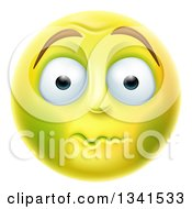 3d Yellow Smiley Emoji Emoticon Face About To Vomit