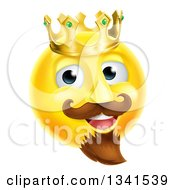Clipart Of A 3d Yellow Smiley Emoji Emoticon Face King Wearing A Crown Royalty Free Vector Illustration
