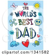 Clipart Of A Doodled The Worlds Best Dad Occasion Design Over Purple Royalty Free Vector Illustration by Prawny