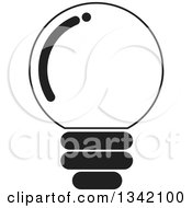 Clipart Of A Black And White Light Bulb 2 Royalty Free Vector Illustration