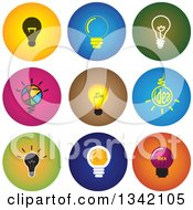 Clipart Of Round Light Bulb Button App Icon Design Elements Royalty Free Vector Illustration