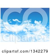 Clipart Of A Blue Sky With Fluffy Clouds Royalty Free Illustration