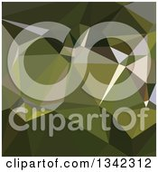 Clipart Of A Low Poly Abstract Geometric Background Of Hunter Green Royalty Free Vector Illustration