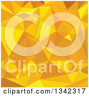 Clipart Of A Low Poly Abstract Geometric Background Of Peridot Yellow Royalty Free Vector Illustration