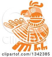 Orange Mayan Aztec Hieroglyph Art Of An Eagle