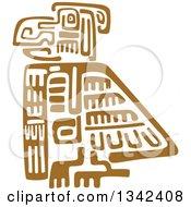 Brown Mayan Aztec Hieroglyph Art Of An Eagle