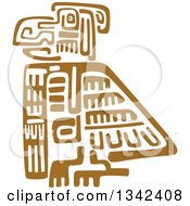 Clipart Of A Brown Mayan Aztec Hieroglyph Art Of An Eagle Royalty Free Vector Illustration
