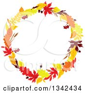 Clipart Of A Colorful Autumn Leaf Wreath 3 Royalty Free Vector Illustration by Vector Tradition SM