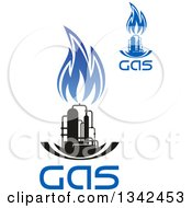 Black And Blue Natural Gas And Flame Designs With Text 21