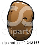 Clipart Of A Cartoon Russet Potato 2 Royalty Free Vector Illustration