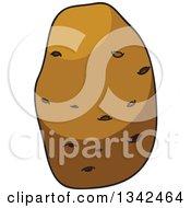 Clipart Of A Cartoon Russet Potato 3 Royalty Free Vector Illustration