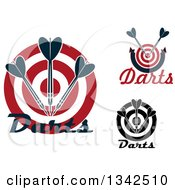 Clipart Of Targets With Darts And Text Royalty Free Vector Illustration
