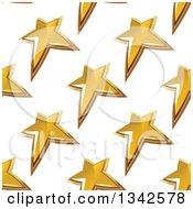 Clipart Of A Seamless Background Pattern Of Gold Stars 4 Royalty Free Vector Illustration