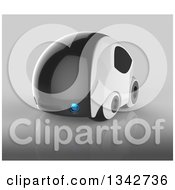 Clipart Of A 3d Futuristic Compact Self Driving Car On Gray 10 Royalty Free Illustration by Julos