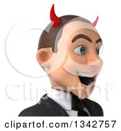 Clipart Of A 3d Young White Devil Businessman Avatar Facing Slightly Right Royalty Free Illustration by Julos