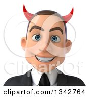 Clipart Of A 3d Young White Devil Businessman Avatar Royalty Free Illustration by Julos