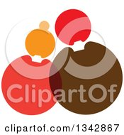 Clipart Of A Cuddling Couple Made Of Circles Royalty Free Vector Illustration