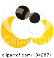 Clipart Of An Abstract Yellow And Black Couple Embracing Royalty Free Vector Illustration