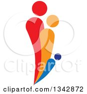 Clipart Of A Colorful Abstract Family 4 Royalty Free Vector Illustration