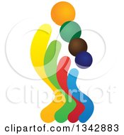 Clipart Of A Colorful Abstract Family Royalty Free Vector Illustration
