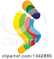 Clipart Of A Colorful Abstract Family 2 Royalty Free Vector Illustration