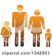 Gradient Orange Family Of Four